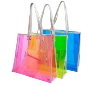 Shiny PVC Shoulder Shopping Bag