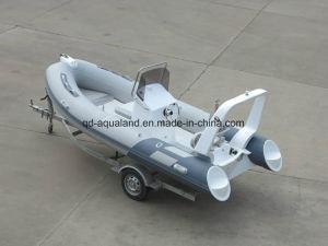 Aqualand 16feet 4.7mfiberglass Fishing//Rib Boat/Rigid Inflatable Boat (RIB470B) pictures & photos