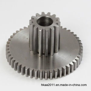 Small Pinion Steel Double Spur Gear pictures & photos