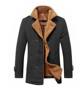 Fashion Wholesale Men′s Custom Wool Jacket pictures & photos