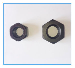 Heavy Black Hex Nuts with Carbon Steel pictures & photos