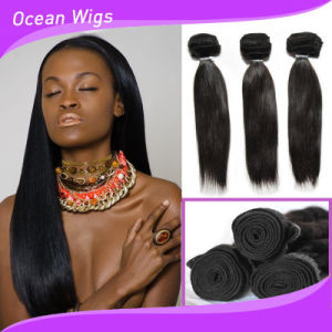 8A Grade Yaki Straight Cheap Brazilian Hair Weave Bundles pictures & photos