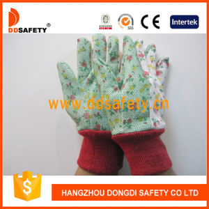 Ddsafety 2017 Garden Gloves with Flower Cotton Back Glove pictures & photos