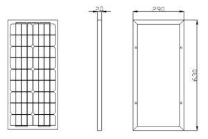 Small Power 25W Photovoltaic Customized Solar Panels Monocrystalline Solar Module pictures & photos