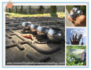 Bonding Nickel Decorative High Gloss Electrostatic Spray Chrome Mirror Silver Powder Coating pictures & photos