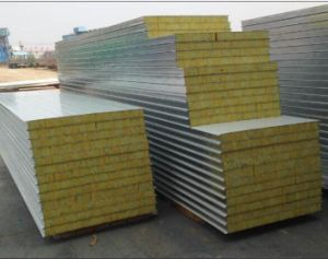 Popular Exporting Rockwool Sandwich Panels for Prefab House pictures & photos