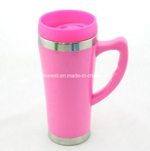 Good Quality Double Wall Promotional Travel Mug Cup with Lid pictures & photos