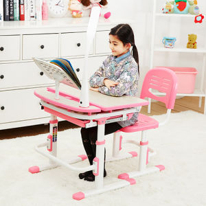 Classic Wooden Kid Table Children Study Desk and Chair Set