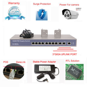 8 Port 10/100m Poe Switch Rack Mount Inter Power with 3 Uplink Port (TS0800F) pictures & photos