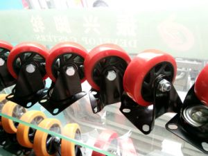 4′′ Red PU Swivel Castor Wheel Use for Trolley pictures & photos