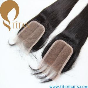 100% Virgin Brazilian Straight Human Hair Closure Hair Piece pictures & photos