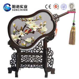 White Flower Twig Design Chinese Handmade Embroidery (SCTD00048)
