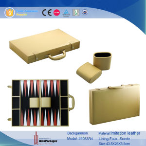 PU Leather Playing Backgammon Set (4083R1) pictures & photos