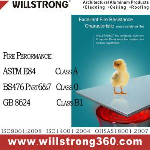 Willstrong 4mm B1 Fire-Retardard Aluminum Facade Panel ACP pictures & photos
