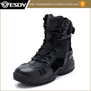 2-Colors High Ranger Desert Combat Shoes Military Army Tactical Boots pictures & photos