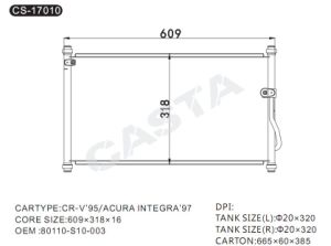 Car Parts Condenser For Honda OEM: 80110-S10-003 pictures & photos