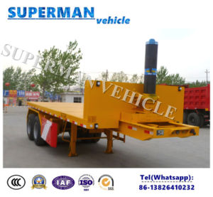 20FT-30FT Flatbed Cargo Transport Front Lifting Dumper/ Tipper Trailer pictures & photos