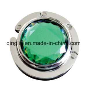Custom Shiny Gemstone Decoration Folding Metal Bag Hanger (G-035) pictures & photos