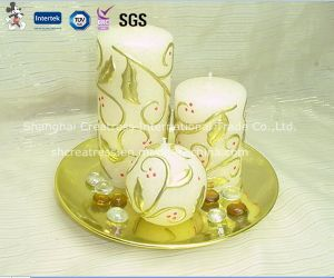 Fancy Printed Pattern Christmas Candles for Sale pictures & photos