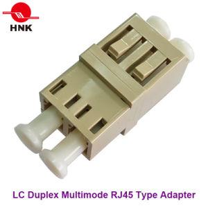 LC Duplex Multimode RJ45 Type Fiber Optic Adapter pictures & photos