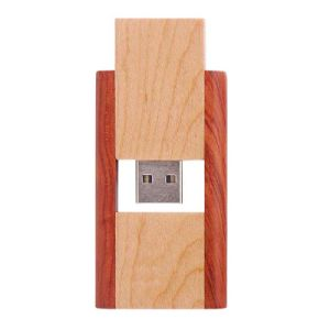 1-16GB Wooden Swivel USB Flash Drive, 1-16GB Wooden Twister USB Flash Memory U Disk pictures & photos