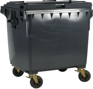 Grey 1100L Plastic Garbage Bin pictures & photos