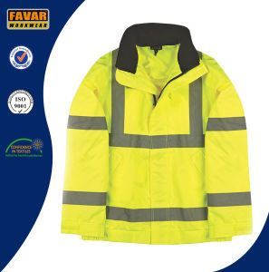 Hi-Vis Yellow Lightweight Bomber Jacket pictures & photos