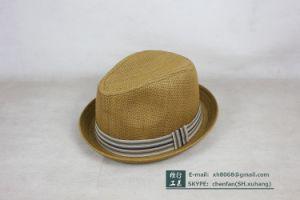 Trilby Paper Straw Hat (XH-PA2111) pictures & photos