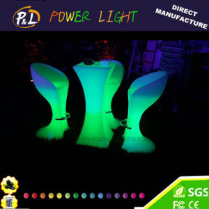 Nightclub or Event LED Lighted Furniture LED Cocktail Table with Glass pictures & photos