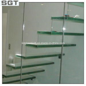 10.38mm Tempered PVB Film Laminated Staircase Glass pictures & photos