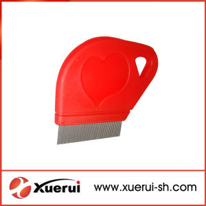 High Quality Pet Flea Lice Comb with Plastic Handle pictures & photos
