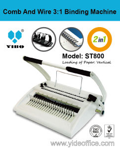 Comb and Wire 3: 1 2-in-1 Binding Machine (ST800) pictures & photos