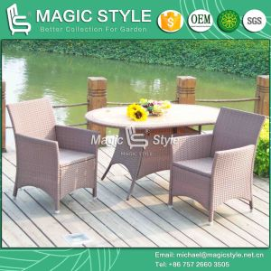 Kd Wicker Dining Set Rattan Kd Dining Chair Garden Dining Chair (Magic Style) pictures & photos