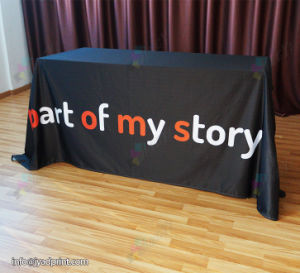 Custom Print Advertising Table Throw Banner (OPEN BACK) pictures & photos