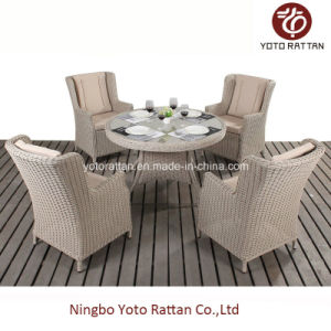Outdoor Round Table with Four Chairs 1507 pictures & photos