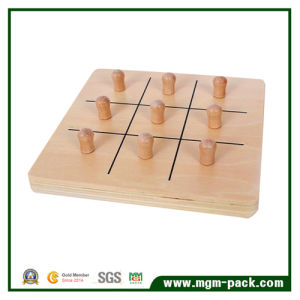 High Quality Brown Lovely Square Wooden Toy for Education pictures & photos
