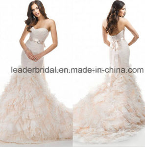 Strapless Tulle Bridal Wedding Gown Lace Sweetheart Wedding Dress Lk201615 pictures & photos