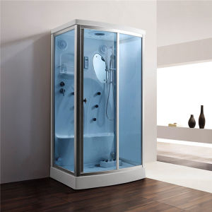 Monalisa Blue Glass Steam Room Shower Cabinet for Sale (M-8256) pictures & photos