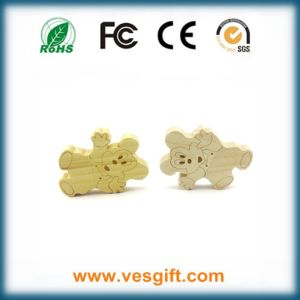 Cute Cartoon Design Wood USB Stick Promotional Gift pictures & photos