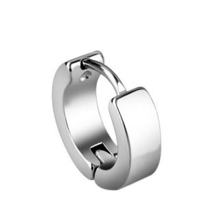 Fashion Stainless Steel Jewelry Black Hoop Earring pictures & photos