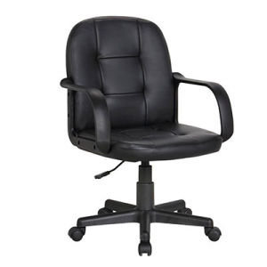 Low Back Swivel Leather Visitor Meeting Executive Office Chair (FS-3002) pictures & photos