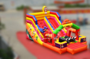 2015 New Design Cow Boy Inflatable Slide (CHSL349) pictures & photos