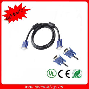 VGA Male to Male Computer Connection Video Cable - Black + Blue pictures & photos