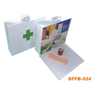 Steel Metal First Aid Box with Silkscreen Logo Printing (DFFB-024) pictures & photos