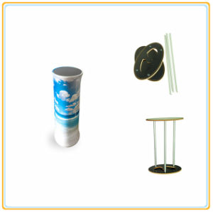 Oval Display Counter with Printed Tension Fabric pictures & photos