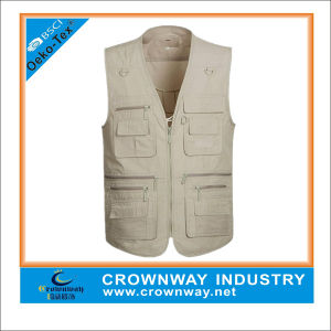 Mens Sleeveless Pockets Outdoors Fishing Vest Top pictures & photos