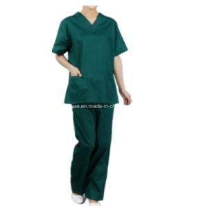 Reusable Polyester Cotton/Cotton Medical Scrubs pictures & photos