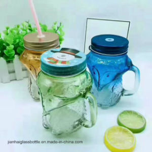 Colorful Mason Cup with Straw Glass Cup pictures & photos