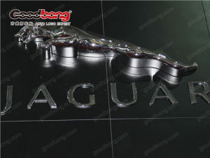 ABS Chromed Backlit LED Light Car Brand Sign pictures & photos