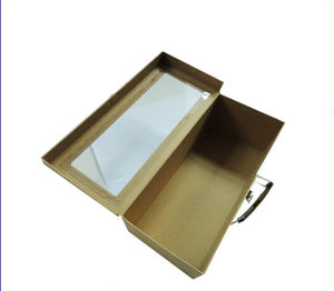 High Paper Suitcase Shape Gift Shoe Box with Window pictures & photos